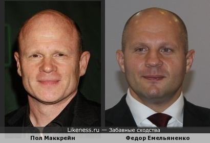 Пол Маккрейн напомнил Федора Емельяненко