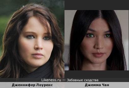 Дженнифер Лоуренс - Джемма Чан