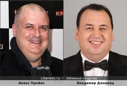 Режиссер Алекс Пройас и кролик Владимир Данилец