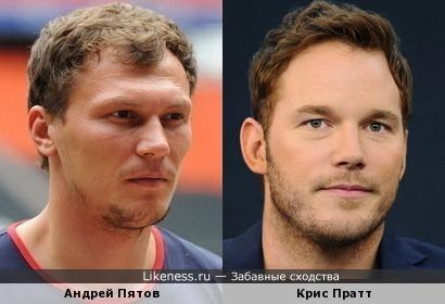 Андрей Пятов и Крис Пратт