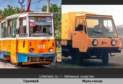 Советский трамвай похож на ГДРовский грузовичок