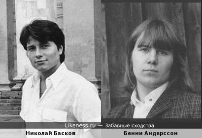 Николай Басков в молодости похож на Бенни Андерссона