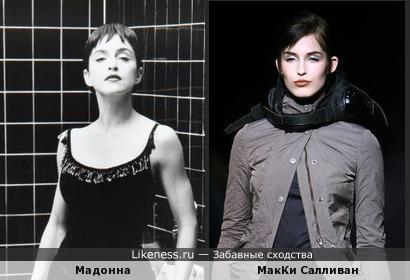Мадонна vs топ-модель по-американски МакКи Салливан