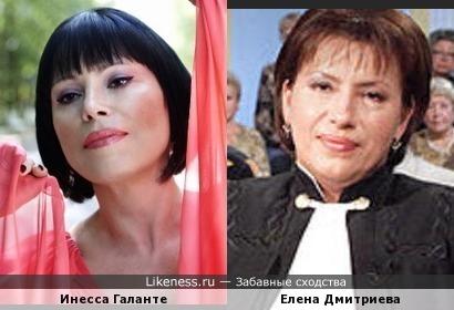 Поющая судья: оперная певица Инесса Галанте похожа на Елену Дмитриеву)