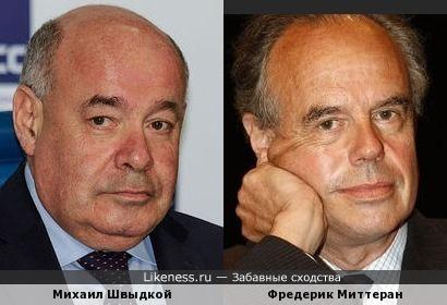 Михаил Швыдкой похож на Фредерика Миттерана