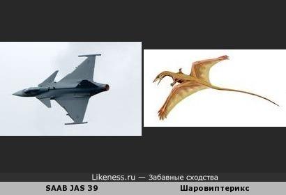 Схожесть самолёта и ящера