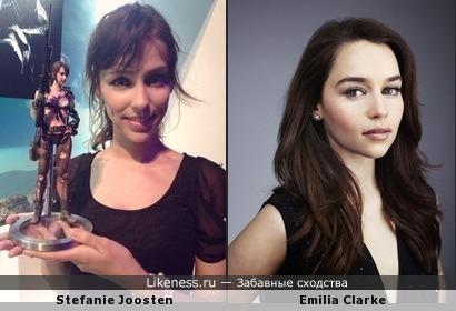 Stefanie Joosten похожа на Emilia Clarke