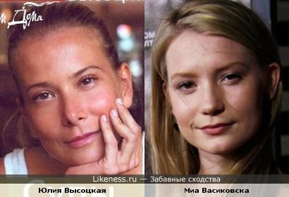 """Миа Васиковска (х.ф. """"Алиса в стране Чудес"""") похожа на Юлию Высоцкую"""
