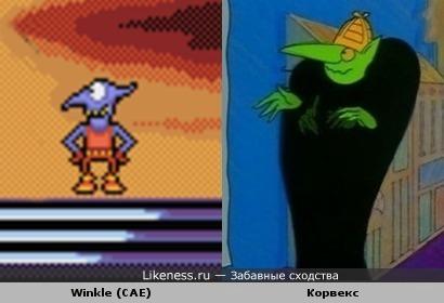 """Персонаж """"GoblIIIns"""" похож на персонажа """"Muzzy in Gondoland"""""""