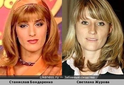Станислав Бондаренко похож на Светлану Журову