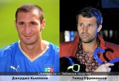 Джорджо Кьеллини похож на Тимура Ефременкова