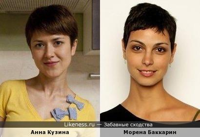 Анна Кузина похожа на Морену Баккарин