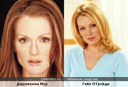 Джулианна Мур похожа на Гейл О'Грэйди