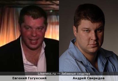 Евгений Гогунский похож на Андрея Свиридова