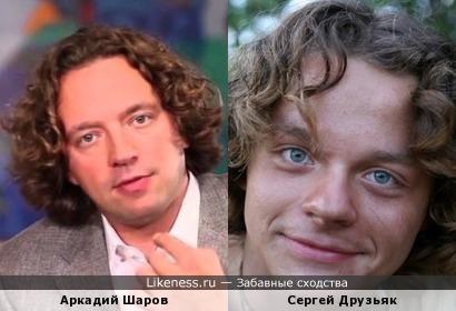 Аркадий Шаров похож на Сергея Друзьяка