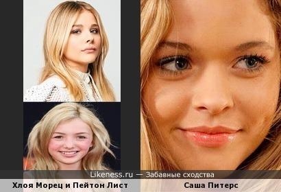 Тройное сходство, похожие на Сашу Питерс