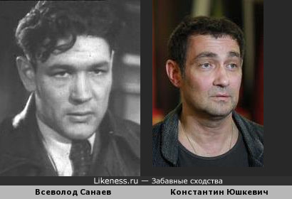 Константин Юшкевич похож на Всеволода Санаева