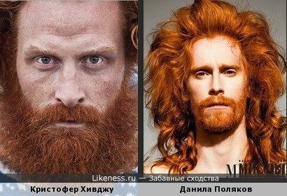 Кристофер Хивджу похож на Данилу Полякова