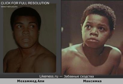Мохаммед Али похож на Максимку