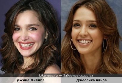 Джина Филипс похожа на Джессику Альбу