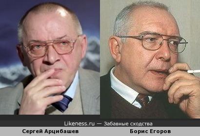 Сергей Арцибашев похож на Бориса Егорова