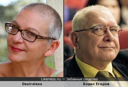 Desireless похожа на Бориса Егорова