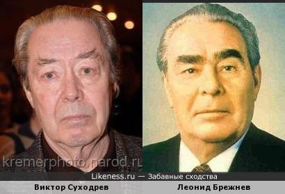 Виктор Суходрев и Леонид Брежнев