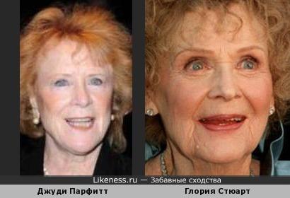 Джуди Парфитт и Глория Стюарт