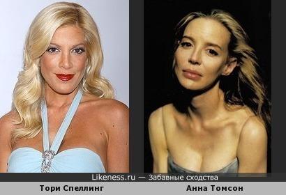 Тори Спеллинг и Анна Томсон