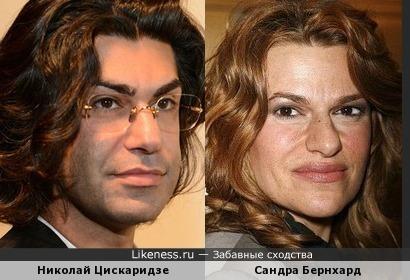 Николай Цискаридзе и Сандра Бернхард