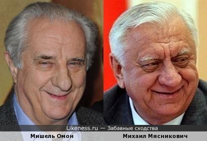 Мишель Омон и Михаил Мясникович