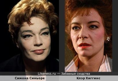 Симона Синьоре и Клэр Хиггинс