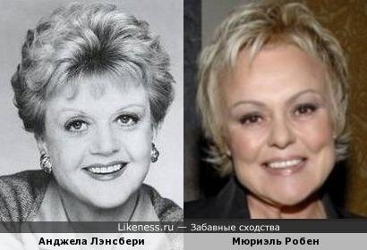 Анджела Лэнсбери и Мюриэль Робен