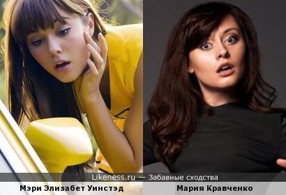 Мэри Элизабет Уинстэд и Мария Кравченко