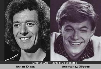 "Аллан Кларк (""The Hollies"") и Александр Збруев"