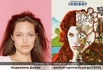 Анджелина Джоли на обложке альбома 1970г.