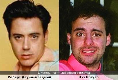 """Роберт Дауни-младший и барабанщик группы """"Nancy"""""""