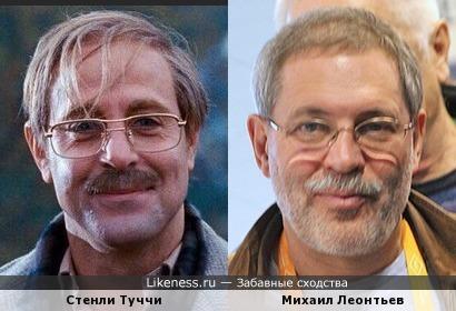 """Стенли Туччи (""""Милые кости"""") и Михаил Леонтьев"""