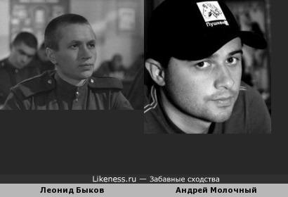 Андрей Молочный напоминает молодого Леонида Быкова
