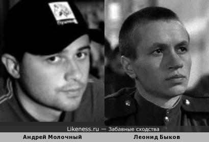 Андрей Молочный и Леонид Быков
