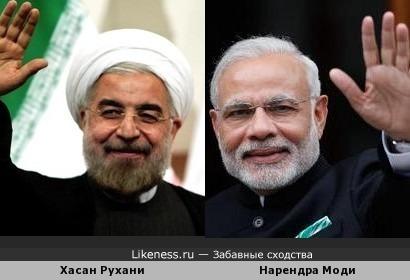 Президент Ирана и премьер-министр Индии