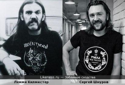 Лемми Киллмистер и Сергей Шнуров