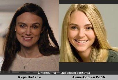 Кира Найтли и Анна-София Робб