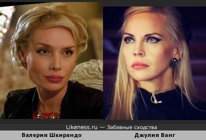 Валерия Шкирандо похожа на Джулию Ванг