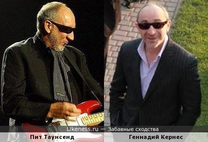 Пит Таунсенд (The Who) и мэр Харькова Геннадий Кернес