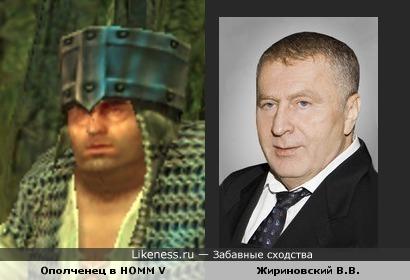Жириновский похож на юнита из Heroes of Might and Magic V