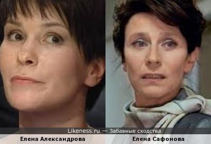 Знаток Елена Александрова похожа на актрису Елену Сафонову
