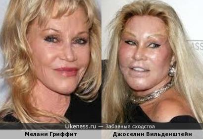 Мелани Гриффит и Джоселин Вильденштейн