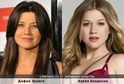 Дафна Зунига и Келли Кларксон