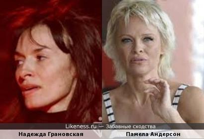 Надежда Грановская и Памела Андерсон